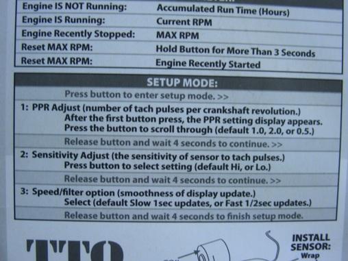 Инструкция по настройке тахометра ТТО